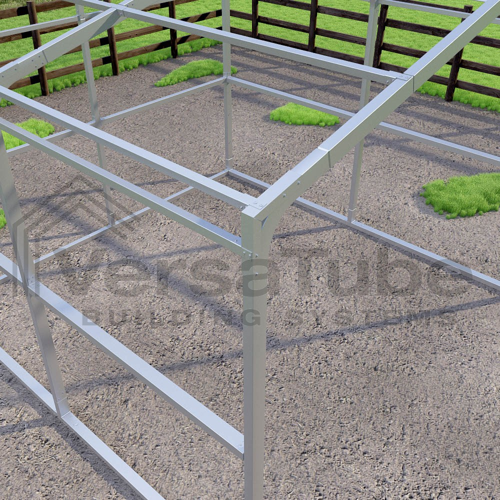 Loafing Shed - Frame Only - 12 x 12 x 8 - Barn or Loafing Shed