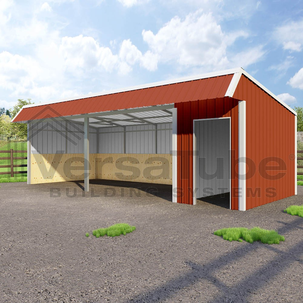 Single Slope Loafing Shed 12 X 30 X 10 8 Barn Or Loafing