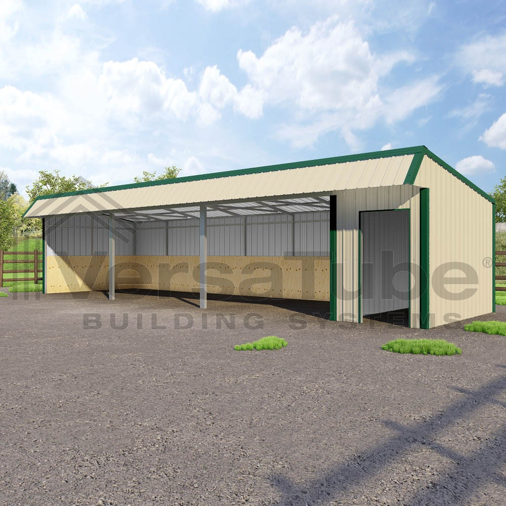 Single Slope Loafing Shed 12 X 42 X 10 8 Barn Or