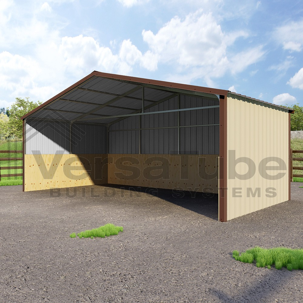 Loafing shed 24 x 12 x 8 barn or loafing shed for Barn construction kits