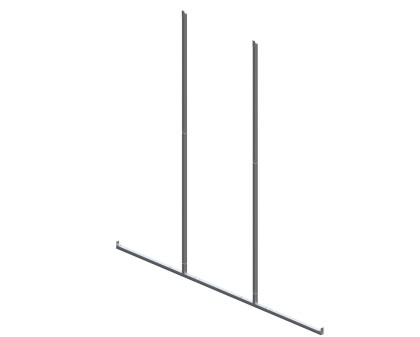 Back Enclosure Frame Kit - 14'W x 12'H - No Girts