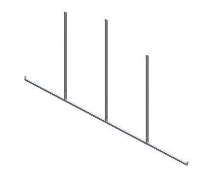 Back Enclosure Frame Kit - 20'W x 7'H - No Girts