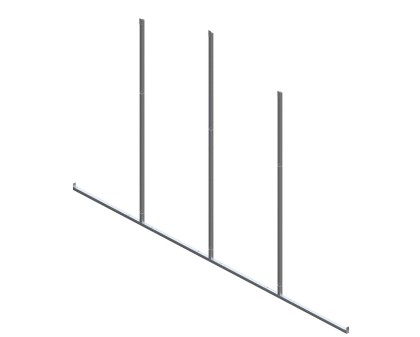 Back Enclosure Frame Kit - 20'W x 10'H - No Girts