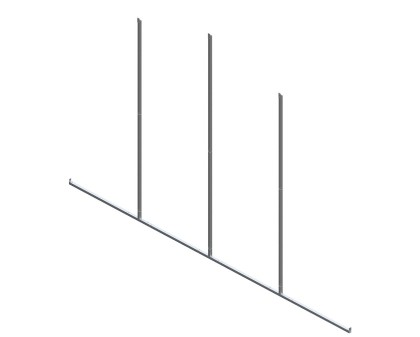 Back Enclosure Frame Kit - 24'W x 12'H - No Girts