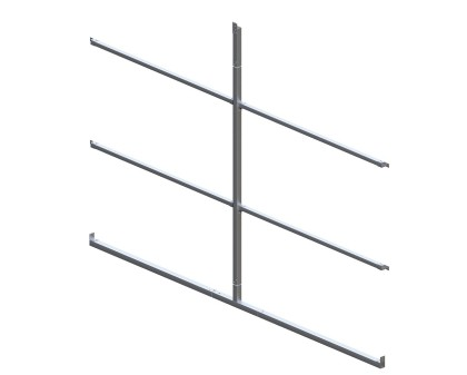 Back Enclosure Frame Kit - 12'W x 7'H - With Girts