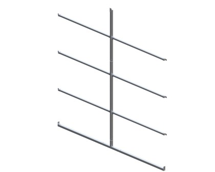 Back Enclosure Frame Kit - 12'W x 10'H - With Girts