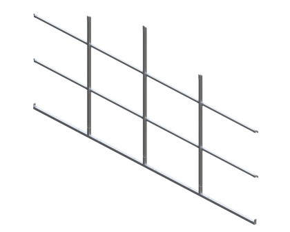 Back Enclosure Frame Kit - 20'W x 7'H - With Girts