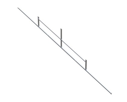 Gable Frame Kit for 30'W Carport - Squared Corners