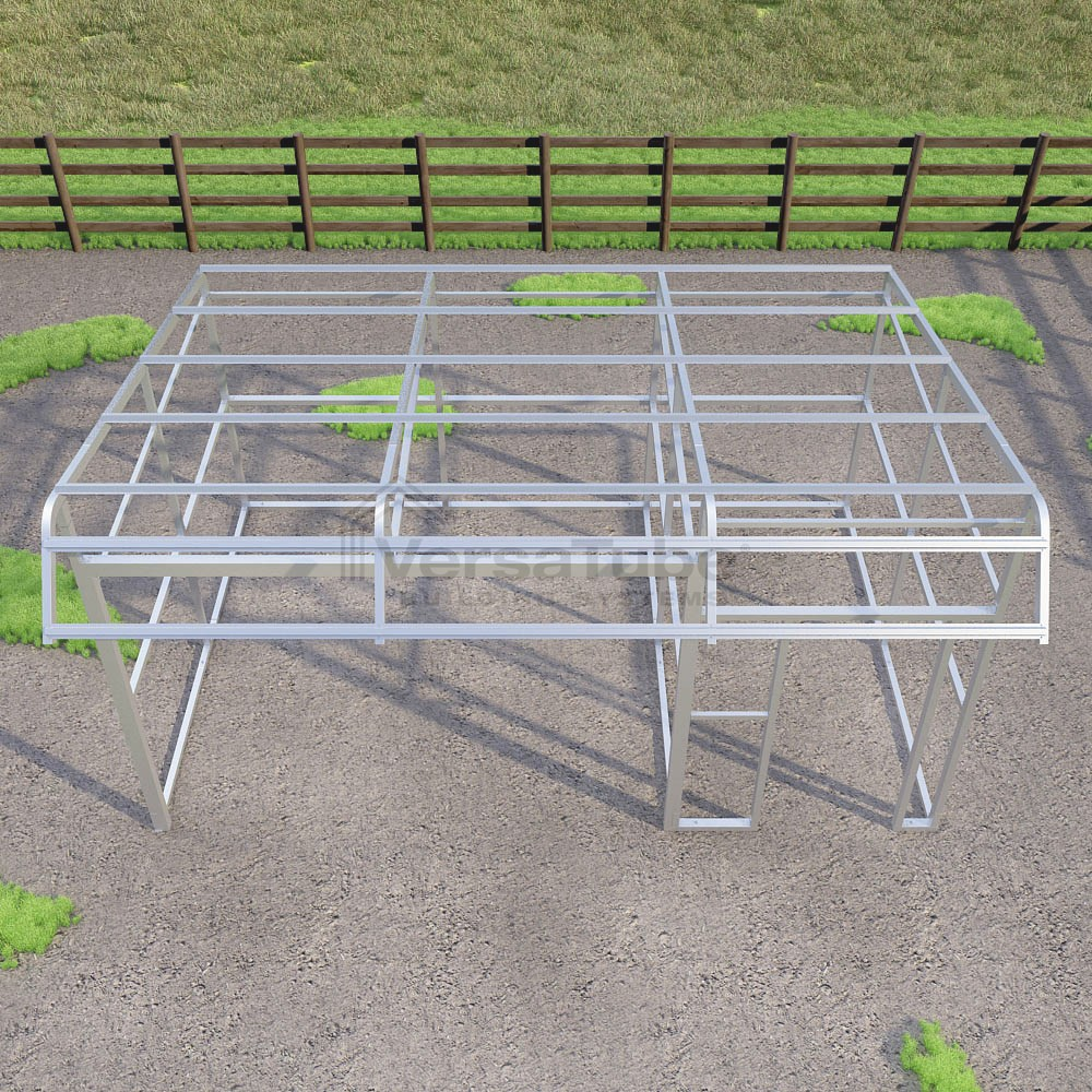 Single Slope Loafing Shed - Frame Only - 12 x 18 x 10/8