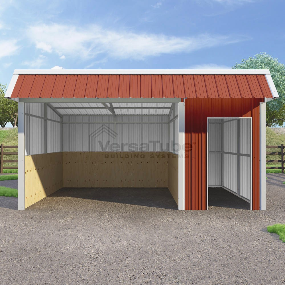 Single Slope Loafing Shed - 12 x 18 x 10/8