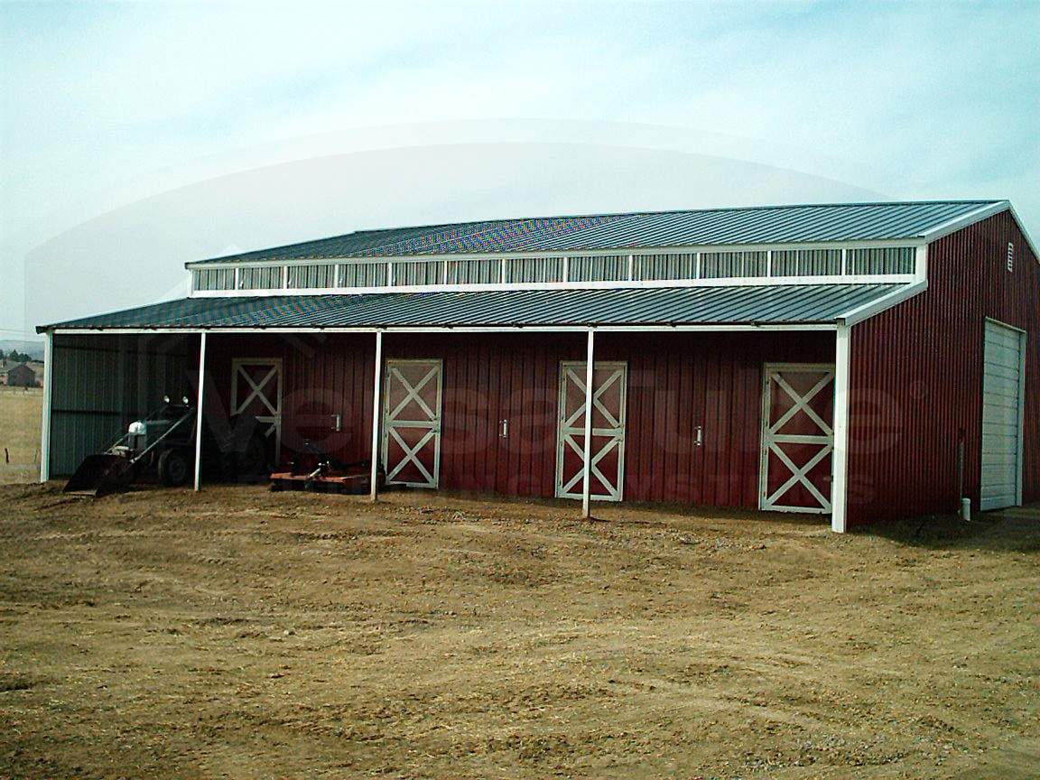 Highlander horse barn frame only 36 x 48 x 13 8 barn for Horse barn building
