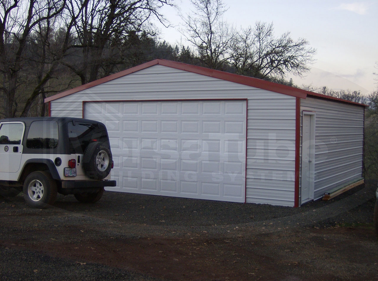 Frontier Garage With Lean To 30 X 40 X 10