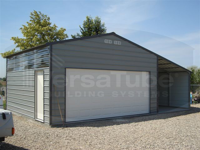 Frontier Garage With Lean To 24 X 24 X 10 Garage Or