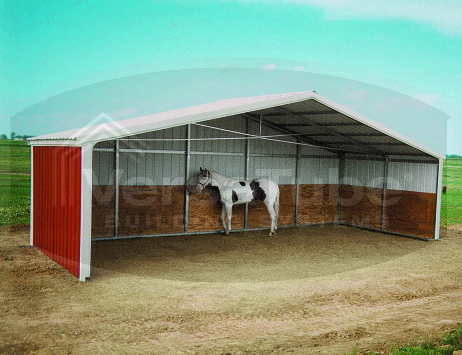 Loafing shed frame only 24 x 12 x 8 barn or loafing for Shed structure