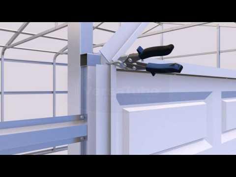 VersaTube Summit Eave Garage Door Trim Application