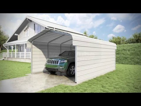12 x 20 x 7 - Classic Carport - 3 Sided