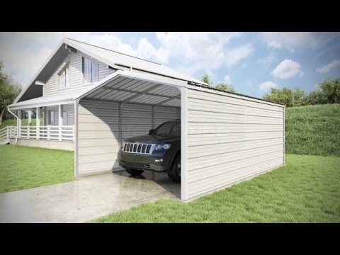 12 x 20 x 7 - Grand Carport - 3 Sided