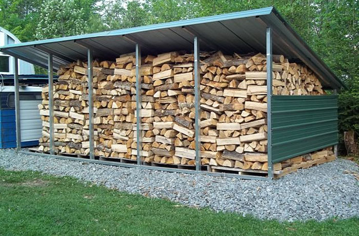 VersaTube Firewood Storage