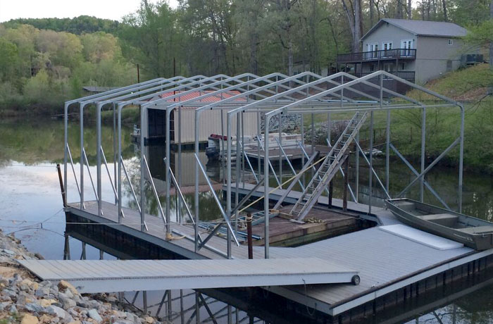 VersaTube Boat Dock Covers