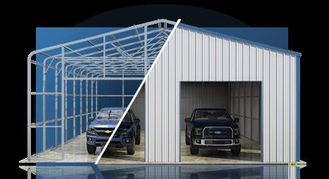 Barn builders easy to assemble versatube steel building kits for American garage builders